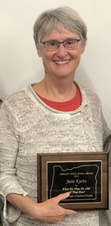 Jane Kurtz receives the Oregon Council of Teachers of English Spirit Award for Nonfiction - 2018
