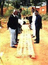 African men playing Mancala