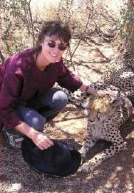 Jane with leopard